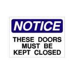 SECURITYステッカー MD058 ドアは閉めてください