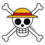 ONE PIECE(ワンピース)ステッカー/OPS-69 ルフィ海賊旗/Sサイズ  (ワンピース公式グッズ)