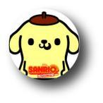 SANRIO サンリオ×パンソンワークスコラボ SAN22 ポムポムプリン 缶バッジ