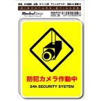 SGS-019/サインステッカー/防犯カメラ作動中 ステッカー(識別・標識 ・注意・警告ピクトサイン,・ピクトグラムステッカー)