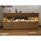 コレクションを美しく見せるリビングボード  高級国産家具