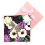 ソープフラワー ボックスアレンジ Box Arrange フローラルソープの香り ピンク/パープル ギフト 敬老の日 2020 758461