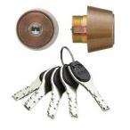 交換用シリンダー(鍵) アルファ FBロック MIWA BH・LD用 ブロンズ