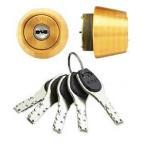 交換用シリンダー(鍵) アルファ FBロック MIWA LSPタイプ ゴールド