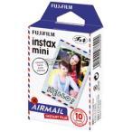 【送料無料】富士フイルム  チェキ用カラーフィルム instax mini 絵柄(エアメール) 10枚入 INSTAX MINI AIRMAIL WW 1