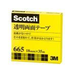 3M スリーエム 透明両面テープ 18mm×35m 665-3-18