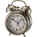 目覚まし時計 ノア MAG マグT-740 アンティークゴールド 連続秒針 レトロでおしゃれ ベルで目覚める