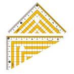 共栄プラスチック カラー三角定規 イエロー CPK-120-Y