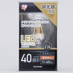 アイリスオーヤマ LEDフィラメント電球 E26 40W 調光 485lm クリア 電球色 LDA5L-G/D-FC