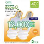 オーム電機 電球形蛍光灯 スパイラル形 口金E17 40W形相当 電球色 2個入 EFD10EL/7-E17-SPN-2P