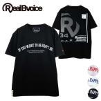 Tシャツ リアルビーボイス RealBvoice 半袖 メンズ レディス 男女兼用 RBV Rロゴ バックプリント 刺繍 丸首 S M L XL XXLサイズ