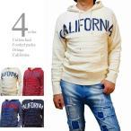 セーター メンズ 綿セーター パーカー コットンニット オルテガ柄 カリフォルニア ウォッシュ加工