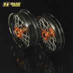 HAAN WHEELS ハーンホイール フロント・リアモタードコンプリートホイール F3.50-R4.50/17インチ BMW G450X(09-10)