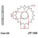 JT SPROCKETS JTスプロケット Front Sprocketヨーロッパ直輸入品 SUZUKI LT230E (230) 86-93