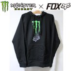モンスターxフォックス コラボ パーカー MONSTER x FOX  MONSTER ZEBRA PO ブラック プルオーバーフード モンスターエナジー MONSTER ENERGY Tシャツ