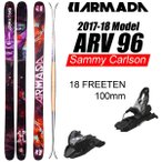アルマダ スキー 2018 ARV 96 エーアールブイ96 Sammy Carlson + 18 MARKER FREETEN 100mm 17-18 armada skis アルマダスキー板 【L2】