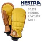 ヘストラ スキーグローブ ミトン HENRIK LEATHER MITT / Yellow/Cork(30821-440710)(17-18 2018)hestra スキーグローブ