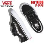 バンズ スニーカー 子供 靴 キッズ KIDS  オールドスクール OLD SKOOL SIDESTRIPE V/ブラック/ホワイト vans スニーカー キッズ