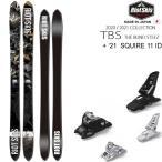 ライオット スキー板 RIOT SKIS 20-21 TBS ティービーエス + 21 マーカー SQUIRE 11 ID 100mmブレーキ スキーセット【L2】