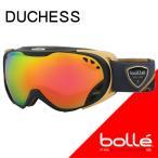 ショッピングゴーグル bolle(ボレー) 2018 DUCHESS(ダッチェス) Black & Gold ローズゴールド 21462 球面レンズ 17-18  スキーゴーグル