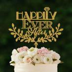 ケーキトッパー「happilyEverAfter」フォント&リース型