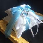 完成品リングピロー【サムシングブルー】ライトブルー ホワイト ウェディング 結婚式