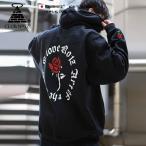 クラブノイズ CLUB NO1Z フードパーカー 長袖 裏起毛 袖プリント Pablo パブロ 薔薇 ワッペン 刺繍