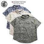 ロカウェア ROCAWEAR 半袖シャツ ワークシャツ タイダイ染め シンプル 紺 ベージュ オリーブ アメカジ