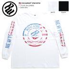 ロカウェア ROCAWEAR ロンT メンズ Tシャツ 長袖 かっこいい 袖プリント 星条旗 アメリカ国旗柄 ブルックリン ナンバー 99 PROBLEMS 白黒 大きいサイズ b系