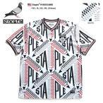 ショッピングジャージ ステイプル STAPLE ゲームシャツ 半袖 かっこいい おしゃれ ビッグシルエット サッカージャージ メッシュ Vネック 総柄 白 大きいサイズ