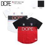 ドープスポーツ DOPE SPORTS ベースボールシャツ メンズ レディース ゲームシャツ 半袖 かっこいい おしゃれ 白黒 ビッグシルエット 大きいサイズ