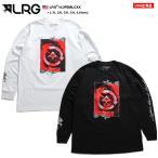 エルアールジー LRG ロンT ロングスリーブTシャツ 長袖 大きいサイズ かっこいい おしゃれ 袖ロゴ 花柄 薔薇 ロゴ 切替 ビッグシルエット