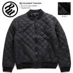 ロカウェア ROCAWEAR ジャンパー メンズ レディース ジャケット アウター 長袖 かっこいい おしゃれ ZIPUP 中綿キルティング 刺繍 黒 大きいサイズ b系