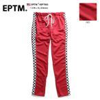ショッピングジャージ エピトミ EPTM ロングパンツ チェッカーフラッグ トラックパンツ ジャージ ストレッチ 赤