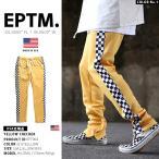ショッピングジャージ エピトミ EPTM ロングパンツ チェッカーフラッグ トラックパンツ ジャージ ストレッチ 黄色