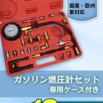 ガソリン燃圧計セット 国産・欧州車対応 燃圧測定 ケース付