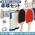 ポータブル 卓球セット ピンポン 卓球ネット テーブルピンポン ラケット ボール パーティーグッズ ゲーム 景品 スポーツ玩具 おもちゃ