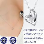 ショッピングネックレス ネックレス ダイヤモンド 一粒 プラチナ ハート ダイヤモンドネックレス プラチナネックレス Pt900 オープンハート 0.08カラット 受注品