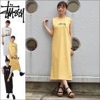 STUSSY ステューシー マキシワンピース Ezra Muscle Dress レディース ノースリーブ 綿100% 全3色 XS-L 214437