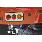 J-NEXT ダイハツ ハイゼット/ハイゼットジャンボ (S500P/S510P) 専用 アルミ テールレンズカバー 3連タイプ DAIHATSU HIJET 軽トラック 軽トラカスタム