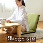 座椅子 リクライニング  日本製 座面が薄い スマート こたつ机にぴったり《スリム座椅子》