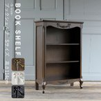 キャビネット アンティーク 本棚 ブックシェルフ ロココ 姫系 かわいい レトロ 猫脚 5083-s
