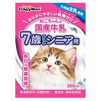 ドギーマン キャティーマン ねこちゃんの国産牛乳 7歳からのシニア用 (200mL) キャットフード 猫用ミルク