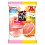 オリヒロ ぷるんと蒟蒻ゼリー パウチ ピーチ+ピンクグレープフルーツ (20g×12個) こんにゃくゼリー ※軽減税率対象商品