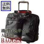 パイロットケース - ビジネスキャリーバッグ A3 出張対応 機内持ち込みサイズ 横型 2輪キャスター パイロット パソコン対応 BAGGEX 23-5580