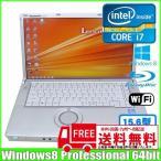 ショッピングOffice Panasonic レッツノート CF-B11QDBBP [core i7-3635QM(2.4Ghz) /8G/1TB /Blu-ray/無線/BT/15.6型/Win8Pro/Office2010付 ]  :ランクB 中古 ノートパソコン