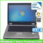 東芝 TOSHIBA dynabook Satellite K30  [celeron 575 (2.0Ghz)/2G/80GB/DVDマルチ/15.4型/Win7 Home 32bit/]  :ランクA 中古 ノートパソコン