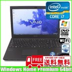 SONY VAIO VPCSE1AJ [corei7 2640M (2.8Ghz)/8G/320GB/無線/WiMAX/Bluetooth/指紋認証/カメラ/Win7 Home 64bit/15.5型] :ランクA 中古 ノートパソコン