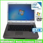 NEC VersaPro VY20M/E-5 [celeron 550  (2.0Ghz)hz/2G/80GB/DVD-ROM15.6型ワイド/Windows7 Home  無線] :良品 中古 ノートパソコン Office