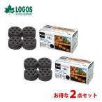 炭 燃料 LOGOS ロゴス 2点セット エコココロゴス・ミニラウンドストーブ4 83100104 7777700200103 [astk][on]